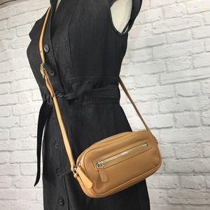 Coach legacy West tan leather crossbody bag